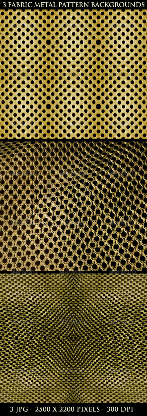 3 Fabric Metal Pattern Background - Patterns Backgrounds