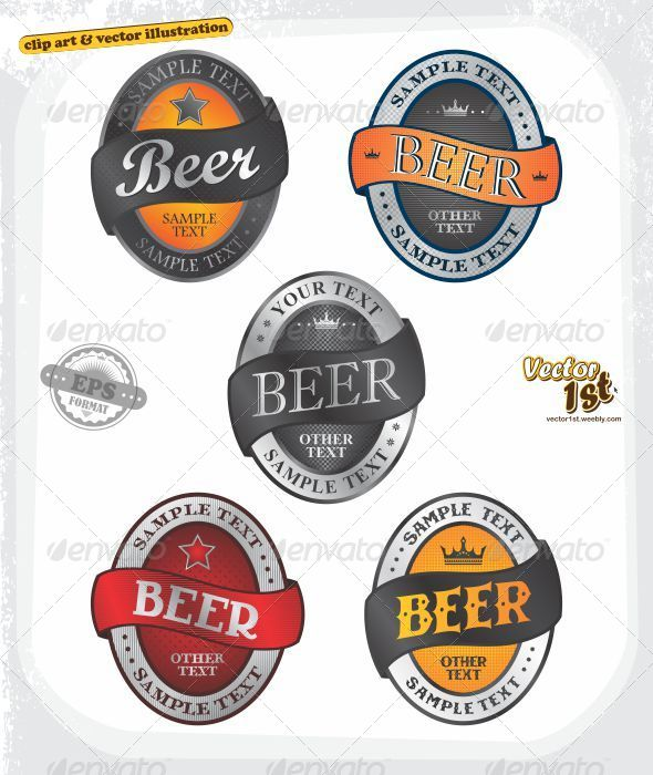 GraphicRiver Various Beer Label Set 5231739
