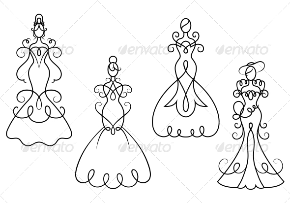Elegance Woman Dresses - People Characters