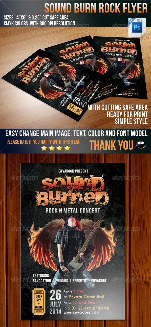 GraphicRiver Sound Burned 5237925
