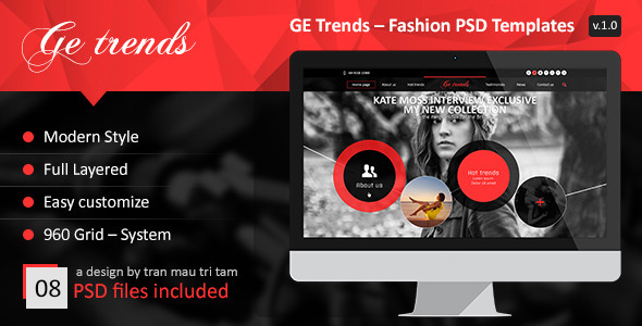GE Trends – Fashion PSD Templates - Fashion Retail