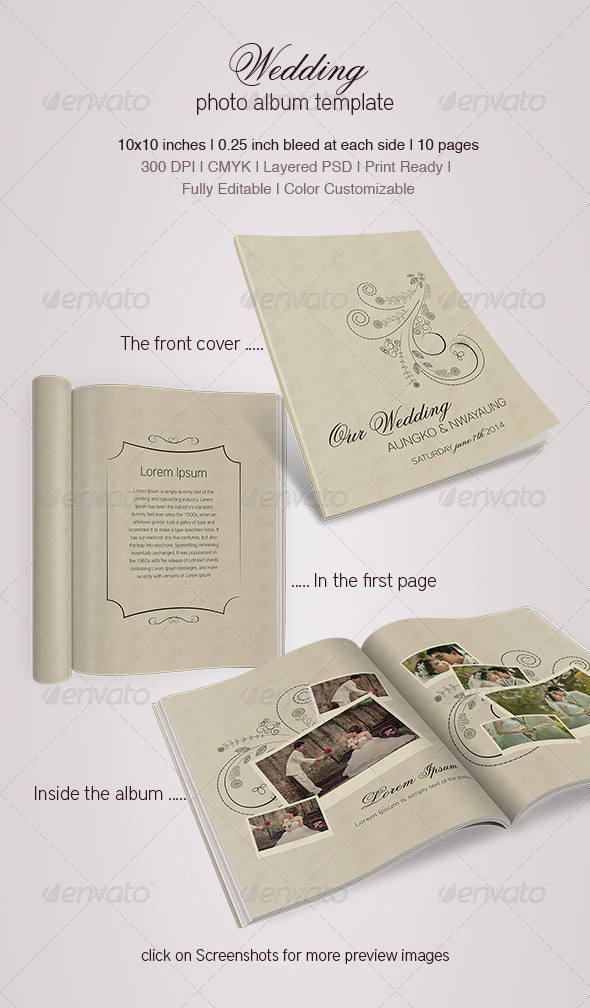 GraphicRiver Wedding Photo Album 5239606