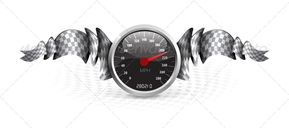 GraphicRiver Racing Emblem with Speedometer 5239882