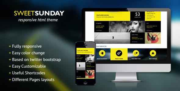 SweetSunday - Fully responsive creative HTML (Creative)