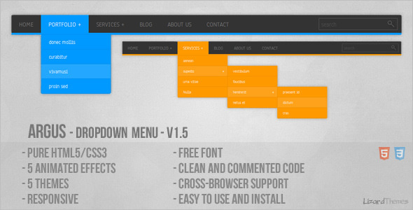 Argus - Dropdown Menu - CodeCanyon Item for Sale