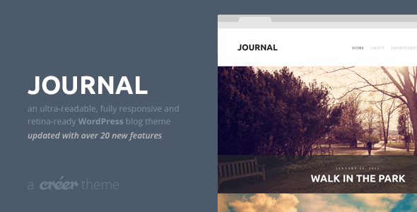 Journal - Responsive Readable WordPress Blog Theme