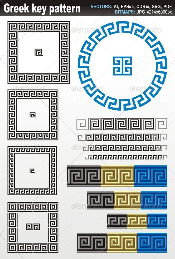 GraphicRiver Greek Key Pattern 5242255