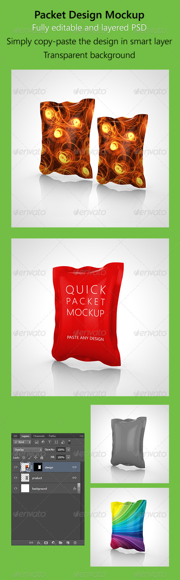 GraphicRiver Packet Design Mockup 5242354