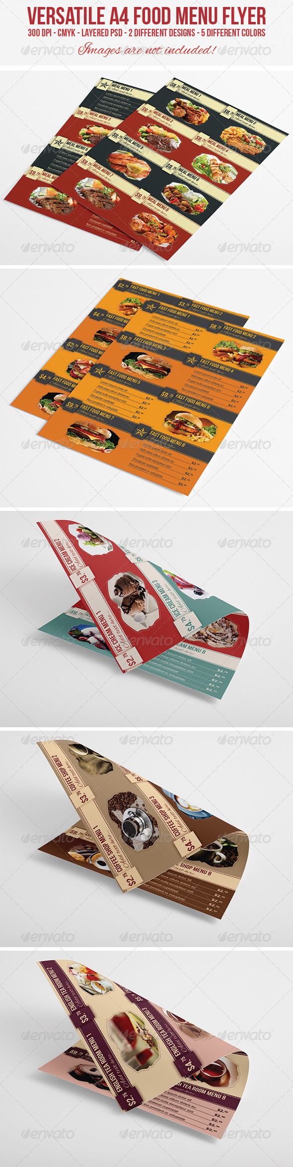 GraphicRiver A4 Food Menu Flyer 5242697