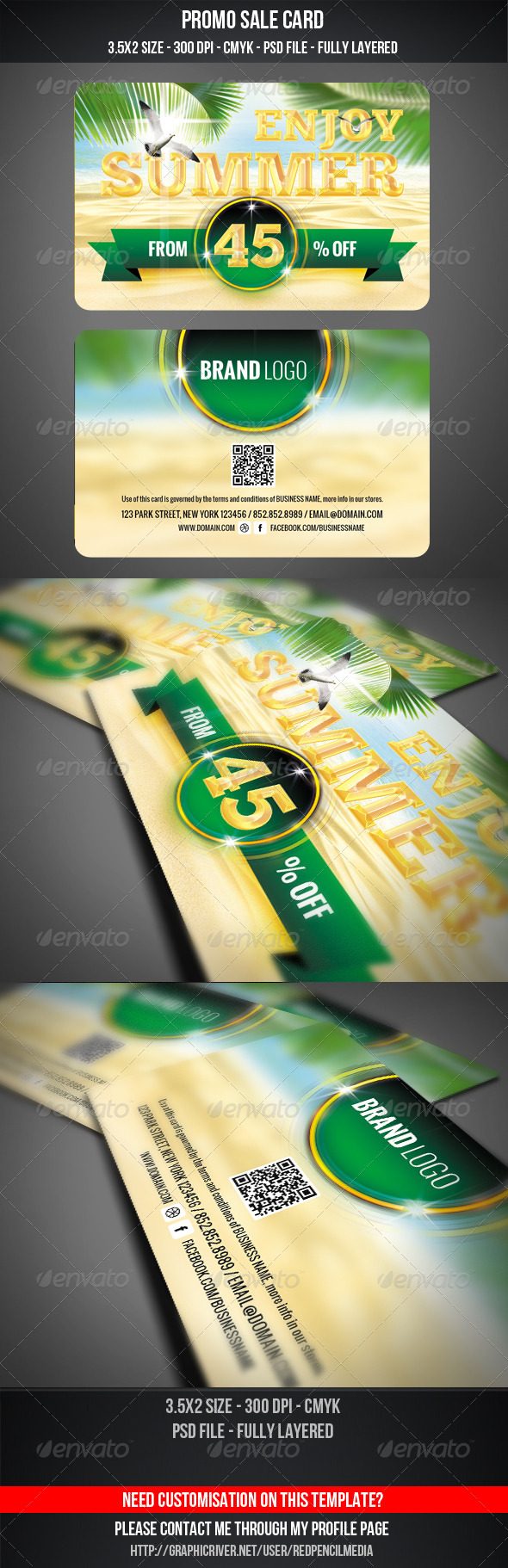 GraphicRiver Summer Sale Card 5193705