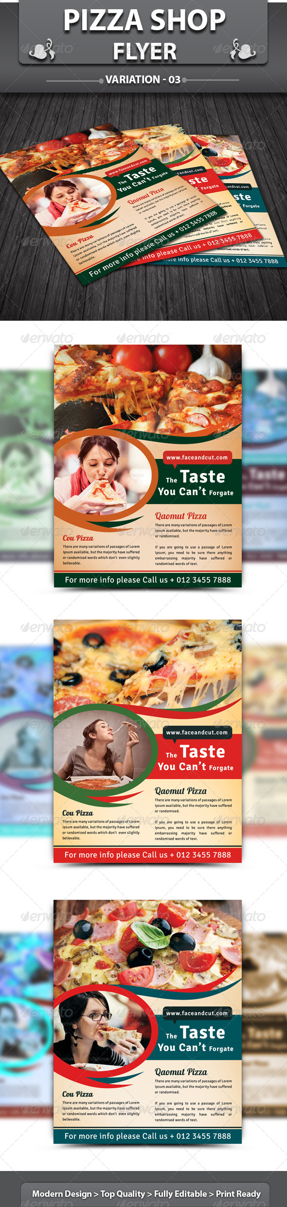Pizza Shop Flyer v3 - Restaurant Flyers