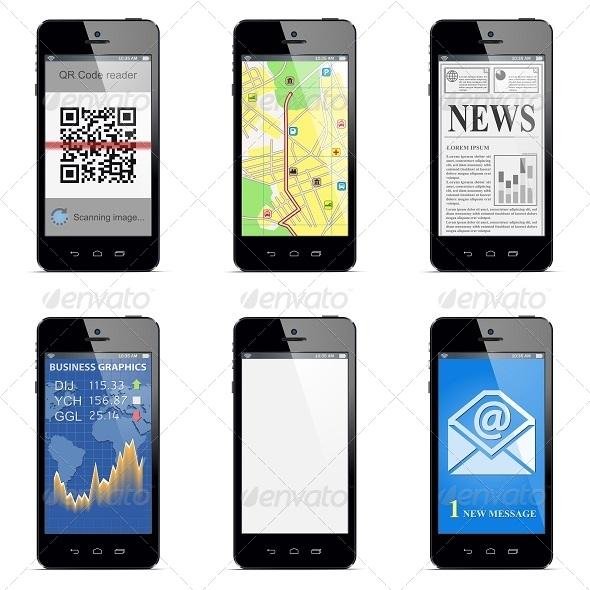 GraphicRiver Vector Smartphone Concept 5242940