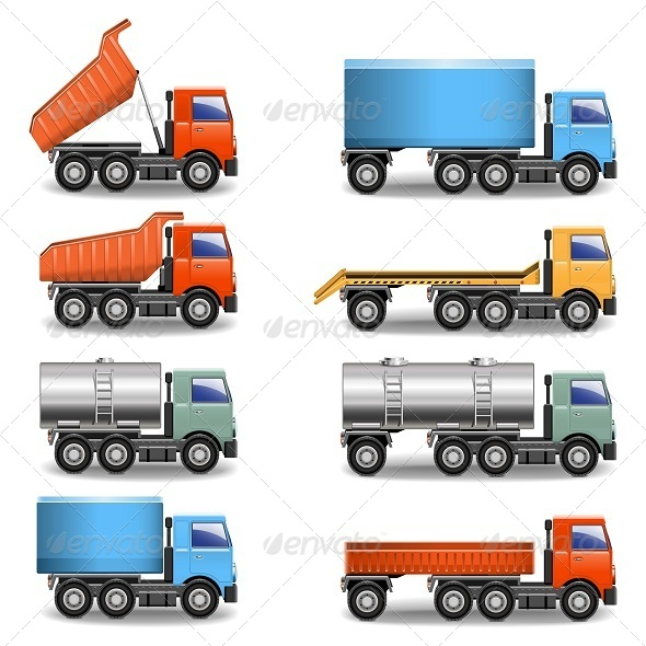 GraphicRiver Vector Truck Icons 5243112