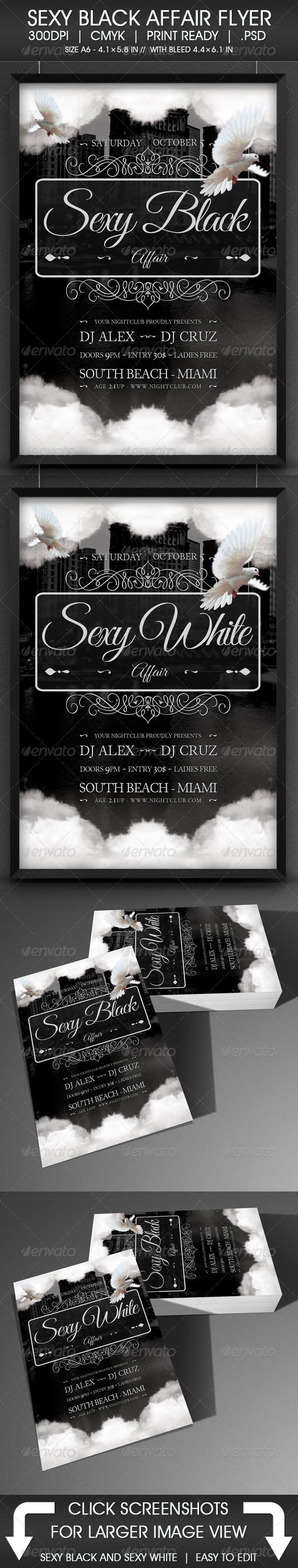 Sexy Black Affair Flyer - Events Flyers