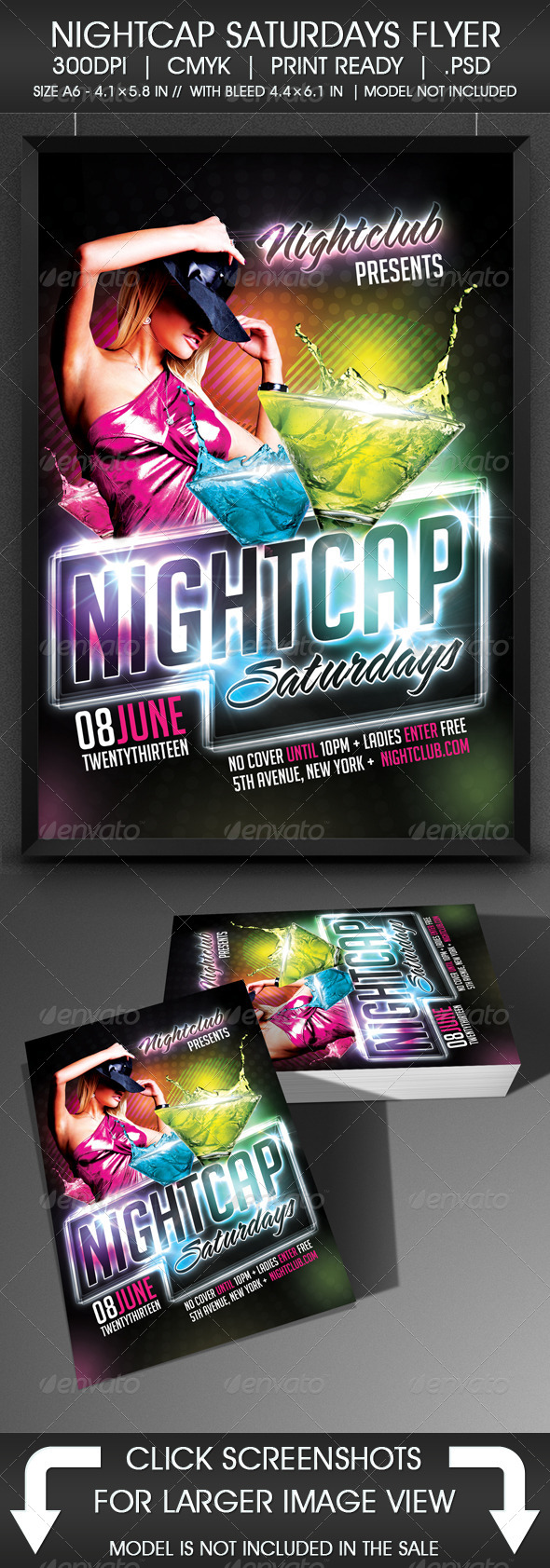 Nightcap Saturdays Flyer - Events Flyers