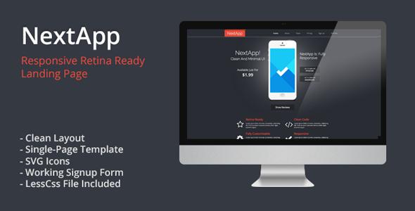 ThemeForest NextApp Responsive Retina Ready Landing Page 5241389