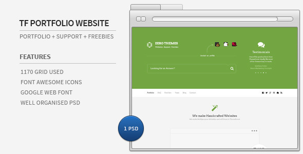 ThemeForest Themforest Portfolio & Support & Freebies Website 5244228