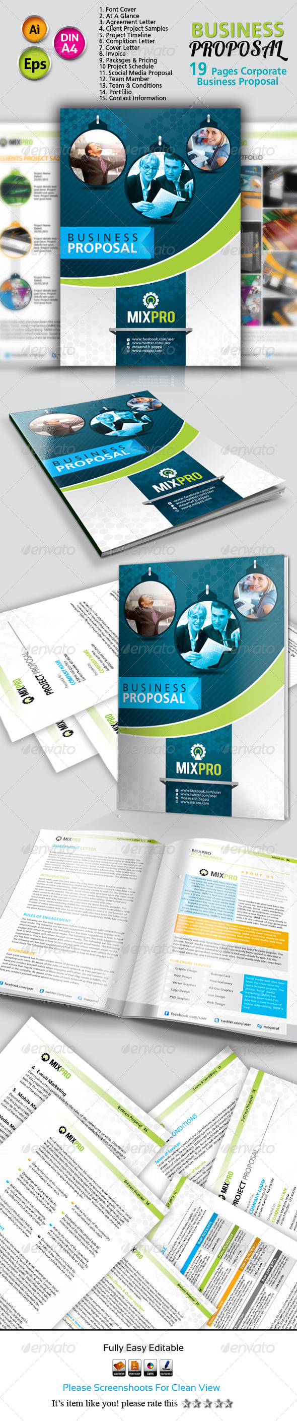 GraphicRiver Mixpro Business Proposal 5244965