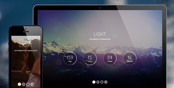 ThemeForest Light Coming Soon Page 5245014