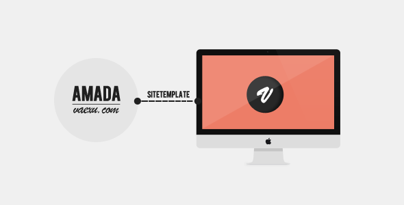 Amada - Flat and Fresh Site Theme - Creative Site Templates