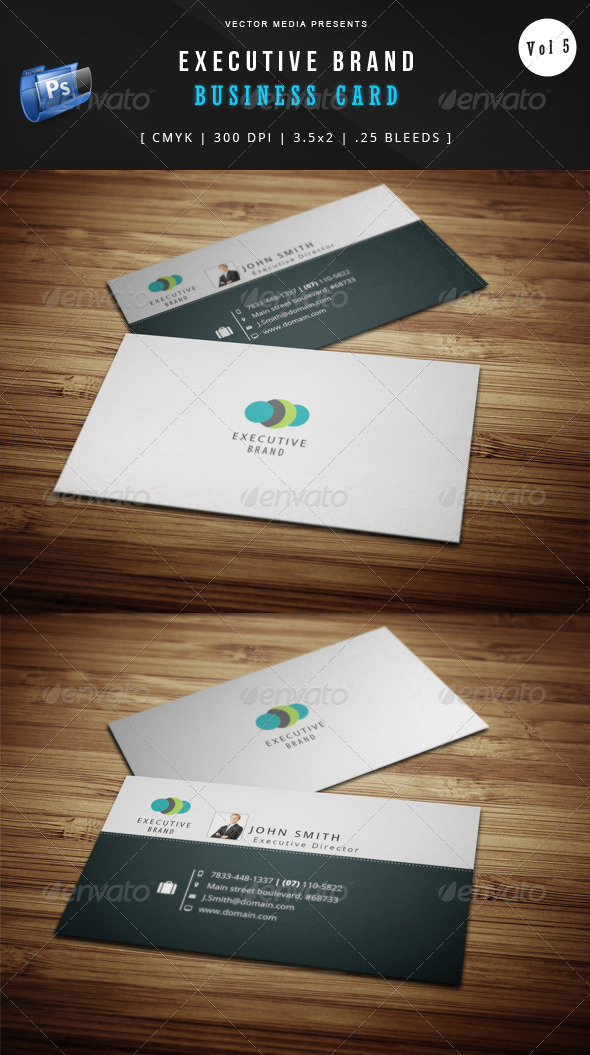 GraphicRiver Executive Brand Business Card [Vol.5] 5245284
