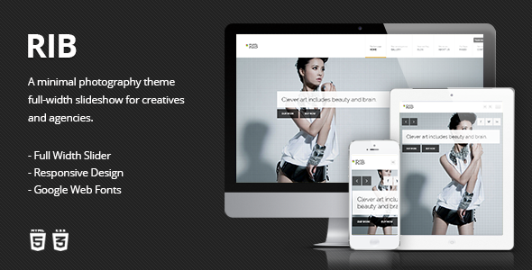 RIB - Responsive HTML5 Photography Template