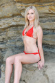 Gorgeous Blonde in a Red Bikini - PhotoDune Item for Sale