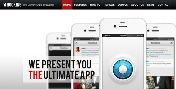 ThemeForest Rocking Parallax iPhone App Showcase Symphony 5246386