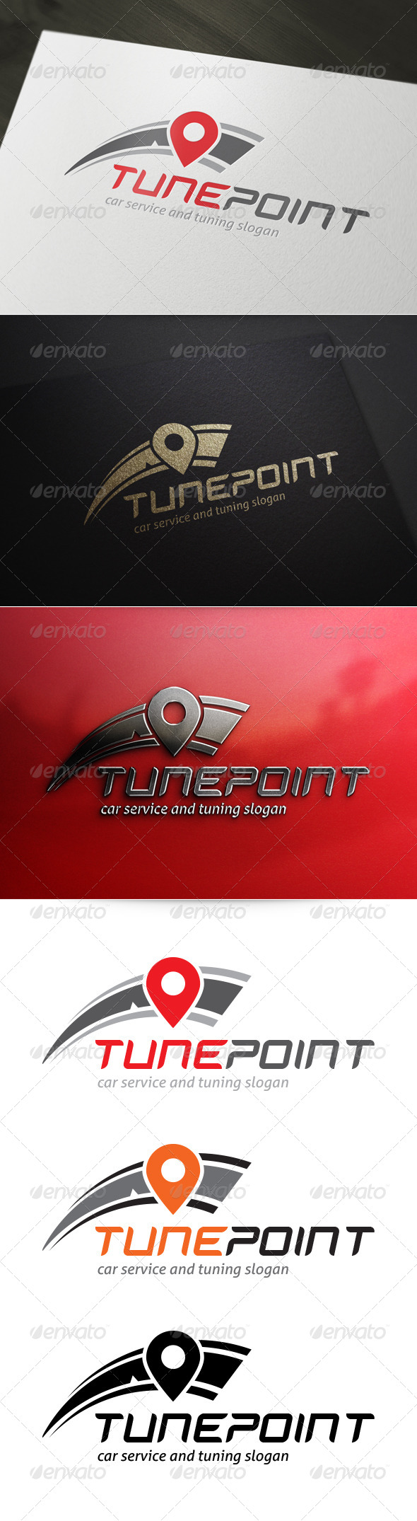 GraphicRiver Tune Point Logo 5246660