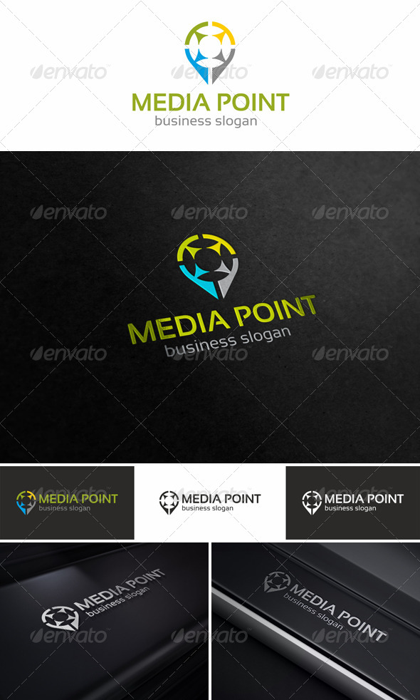 GraphicRiver Media Point Logo Template 5246926