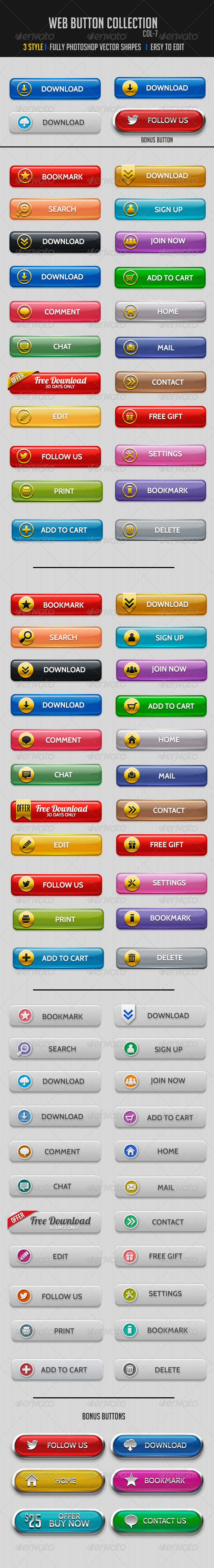 GraphicRiver Web Buttons Col-7 5247727