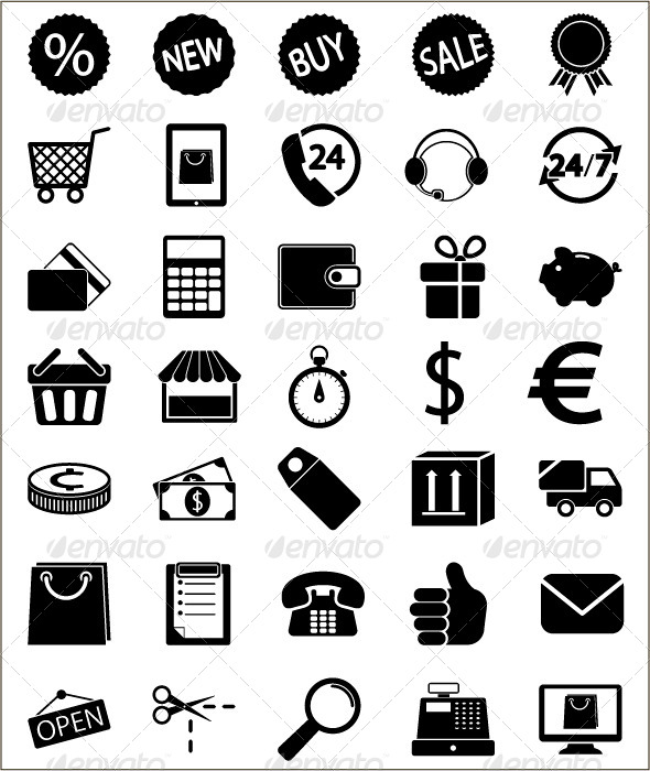GraphicRiver Shopping Icons 5242628