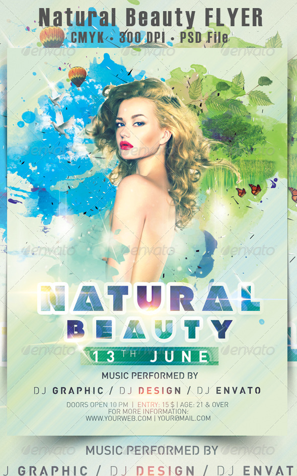Natural Beauty Flyer - Events Flyers