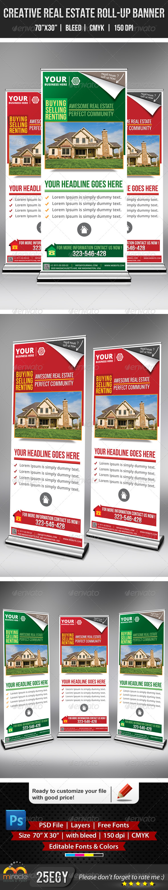 GraphicRiver Creative Real Estate Roll-Up Banner 5249676