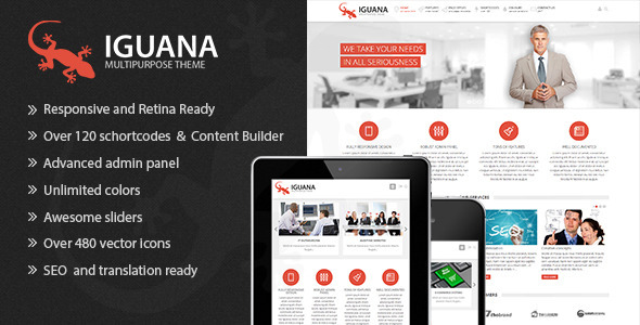ThemeForest Iguana Responsive Multi-Purpose Wordpress Theme 5239597