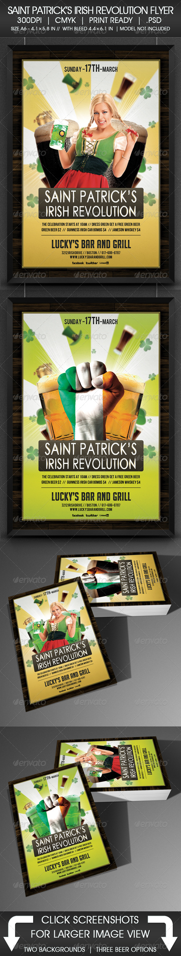 Saint Patrick's Irish Revolution Flyer - Holidays Events