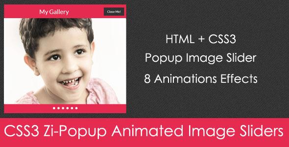 CodeCanyon CSS3 Zi-Popup Animated Image Sliders 5249235