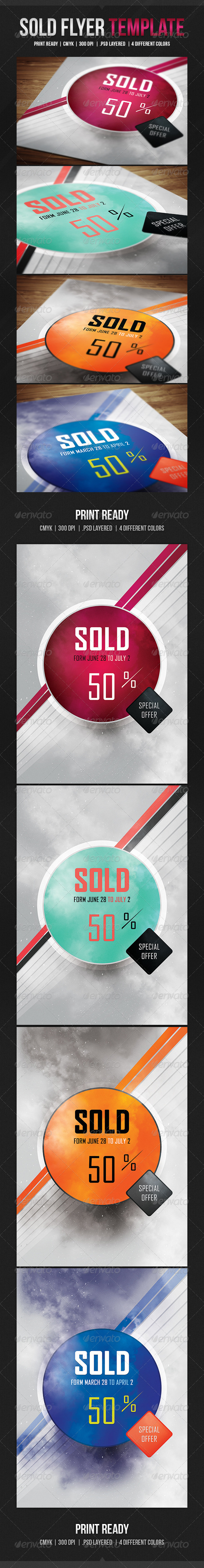 GraphicRiver Sold Flyer Template 4931452
