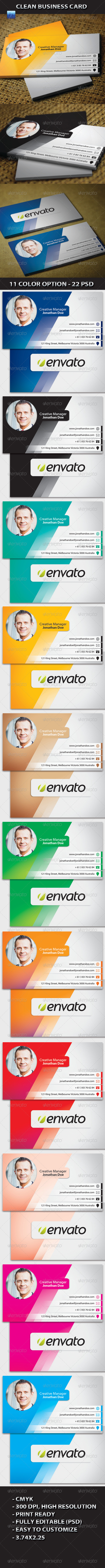 GraphicRiver Clean Business Card 5173570