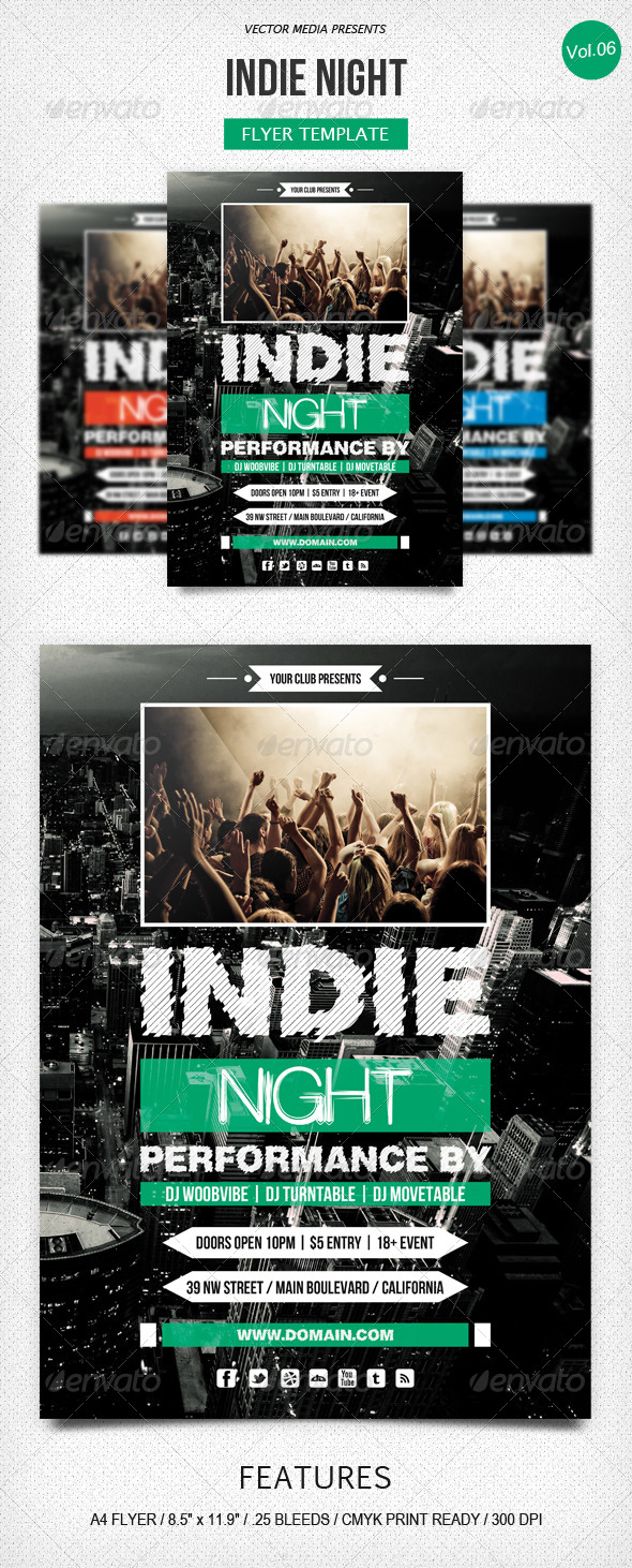 GraphicRiver Indie Night Flyer [Vol.6] 5251374