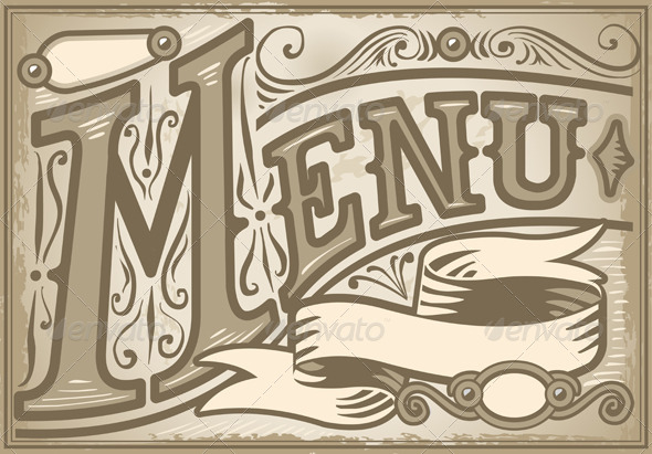 GraphicRiver Vintage Graphic Element for Menu 5251441