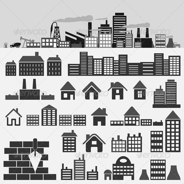 GraphicRiver House icons4 539754