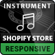 Responsive Shopify Theme – Instruments Design