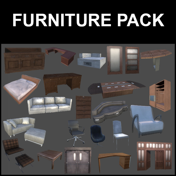 3DOcean Furniture Pack 5252101