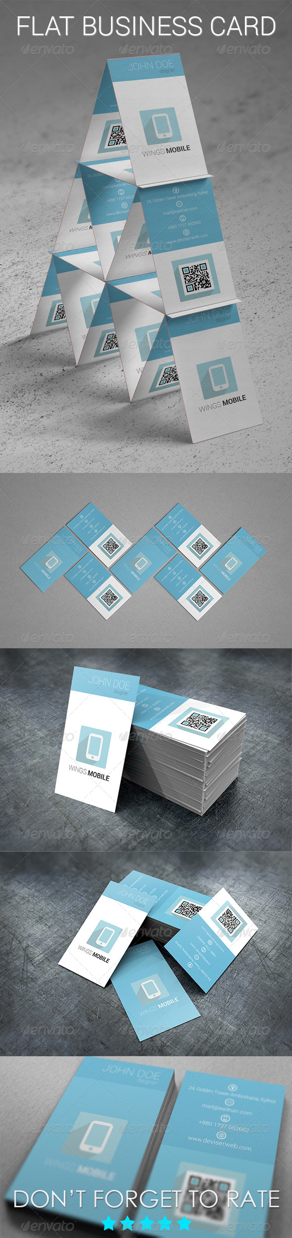 GraphicRiver Flat Business Card 5252193