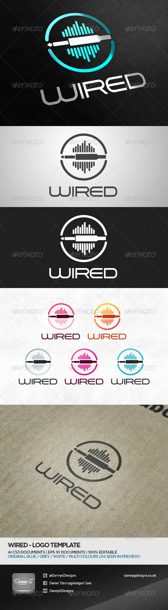 GraphicRiver Wired Logo Template 5243420