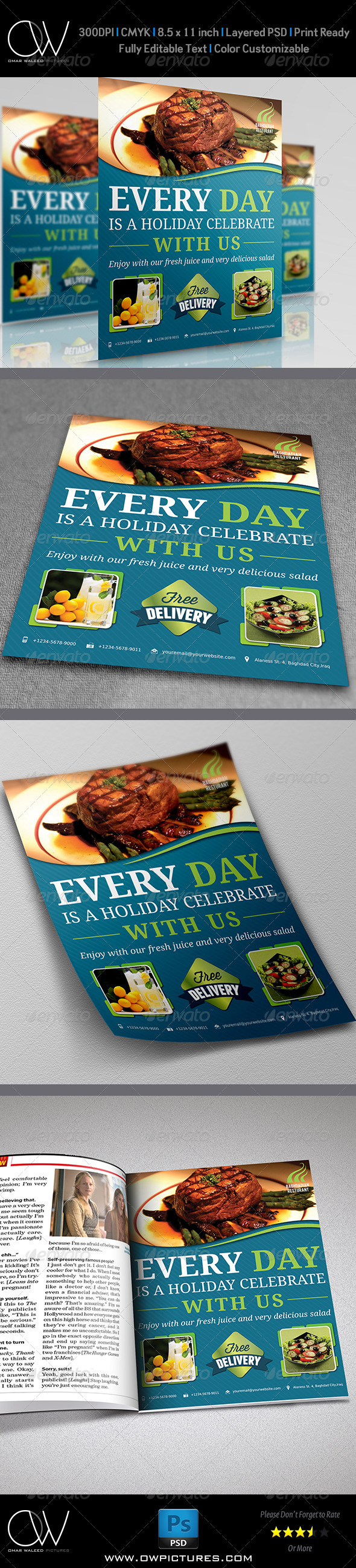 GraphicRiver Restaurant Flyer Vol.2 5210939