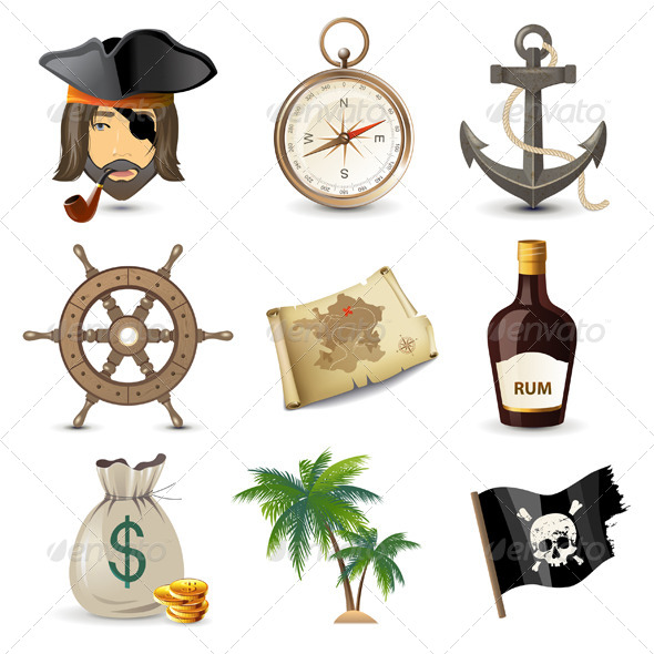 GraphicRiver Pirate Icons 5252470