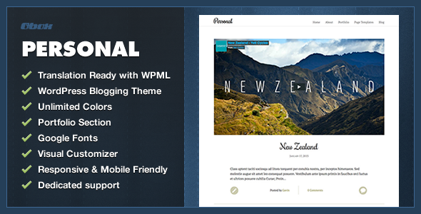 Personal - WordPress Blogging Theme - Blog / Magazine WordPress