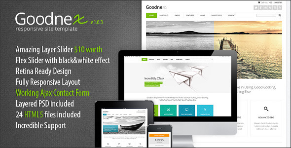 Goodnex Responsive HTML5/CSS3 Site Template - Corporate Site Templates